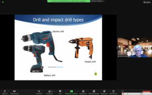 Screenshot of electric drills