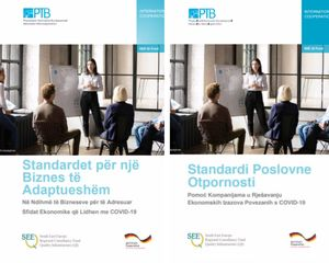 Fotos of the Booklet on Business Resilience Standards now available in Albanian and Bosnian language